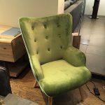 Stuhl grün Samt